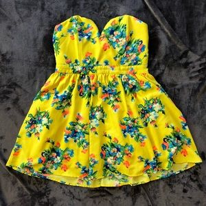 Love Culture Floral Strapless Sundress